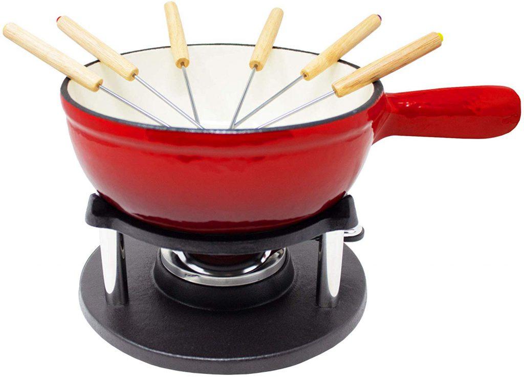 ToCis Big BBQ Gusseisen Fondue für Käsefondue